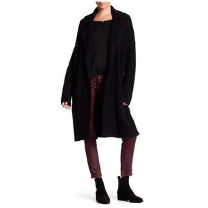 Michael Stars Notch Collar Coat in Black XS